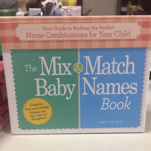 The Mix & Match Baby Names Book on Carousell