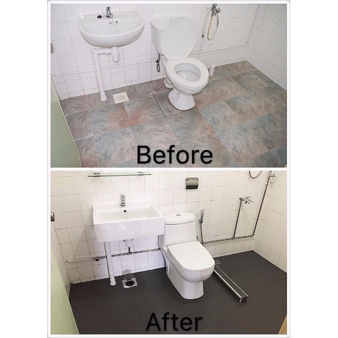 Toilet Renovation Promotion 1 488 00 Home Services Renovations On Carousell