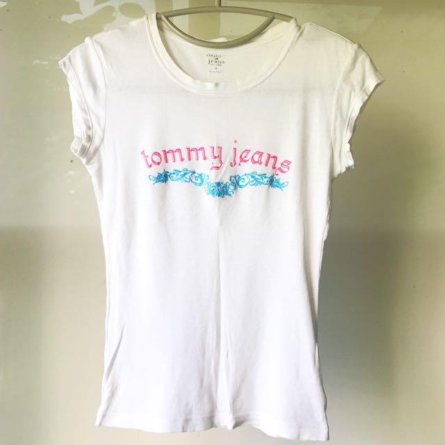 (美國購回)Tommy Hilfiger Tommy Jeans專櫃正品 刺繡T恤 女S號