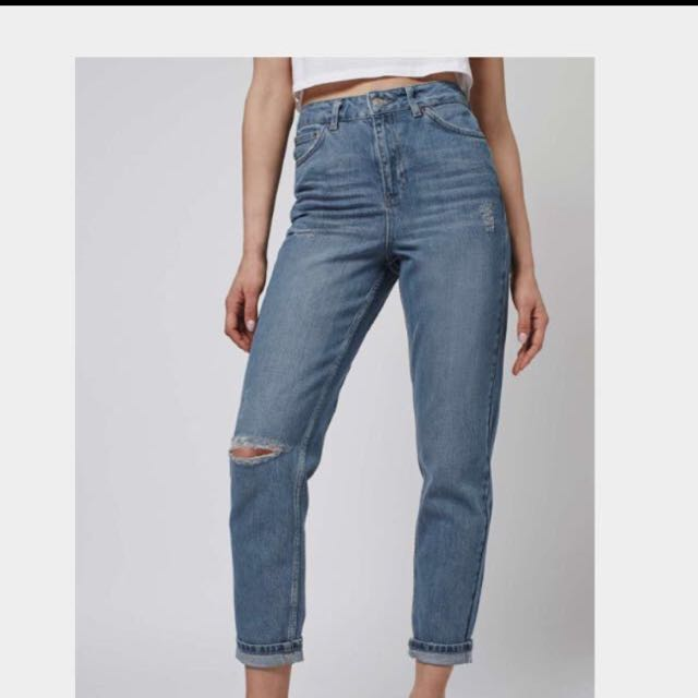 Topshop Current Season ripped Mom Jeans Size 8