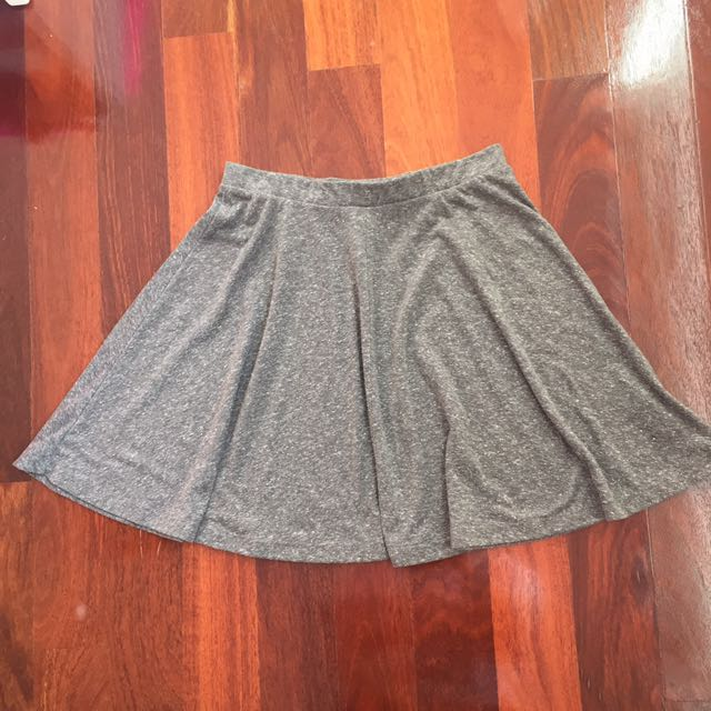 TOPSHOP Grey Skater Skirt
