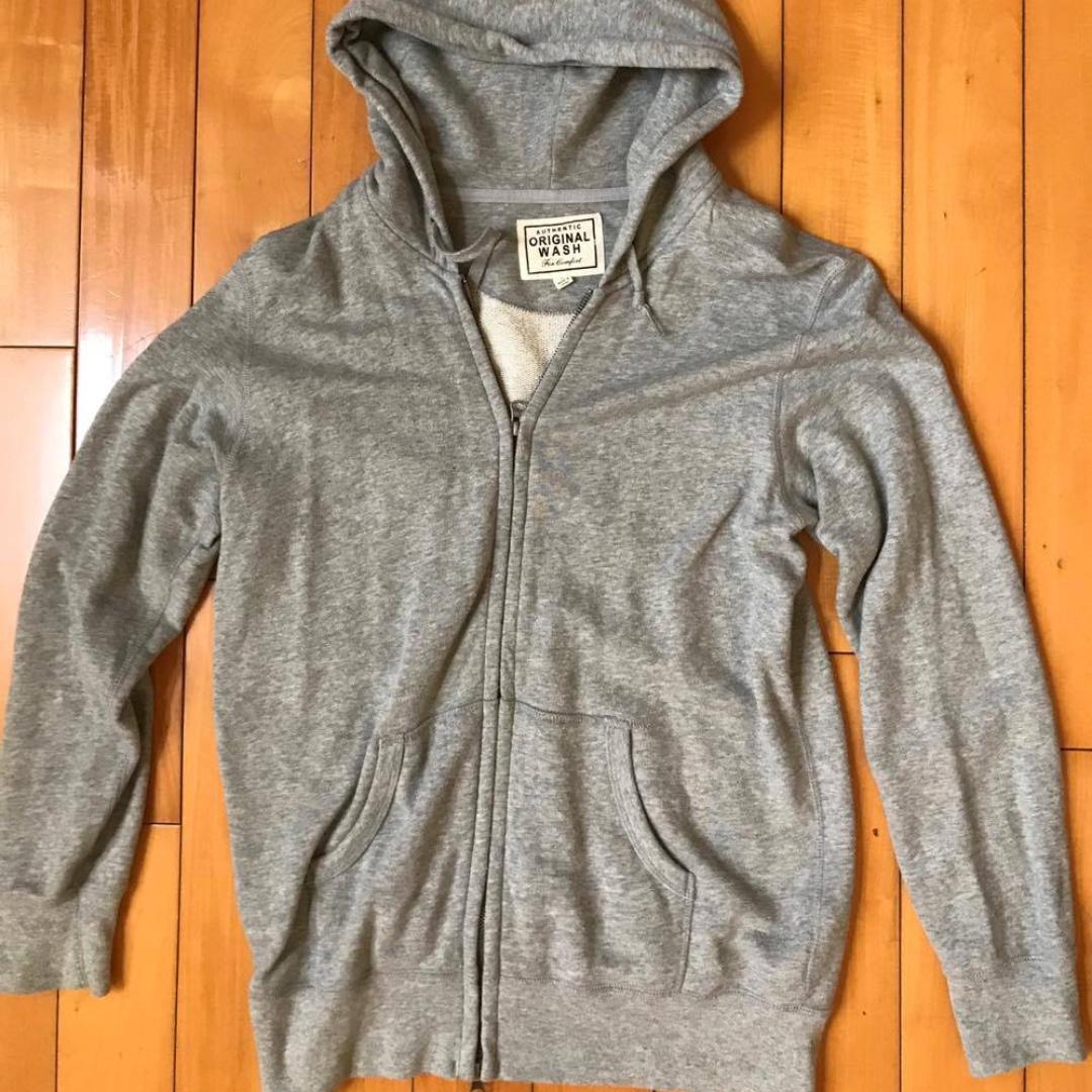 UNIQLO authentic original wash 灰色棉外套
