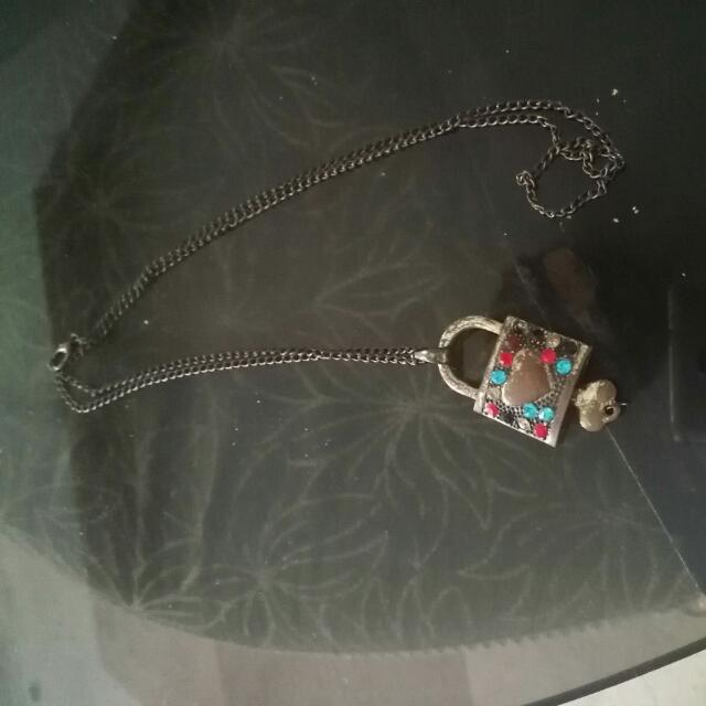 Vintage Lock Necklace