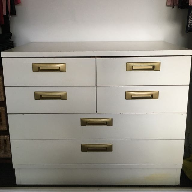 White Dresser Drawers