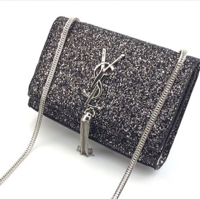 5ede71f7b1f YSL Sling Bag Glitter, Women s Fashion, Bags   Wallets on Carousell