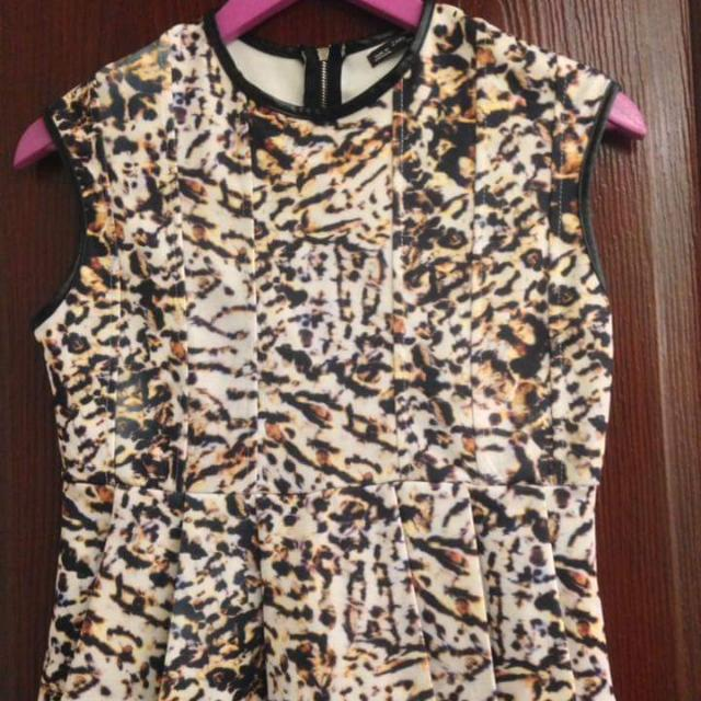 Zara Leopard Print Peplum Top