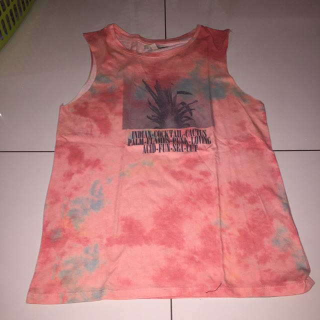 ZARA SLEEVELESS TIEDYE SHIRT