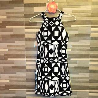 Terno Dress Coordinates Black And White