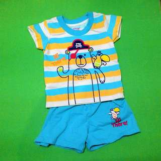 GENTLY USED Bebe by So-en Infant Shirt and Shorts Set