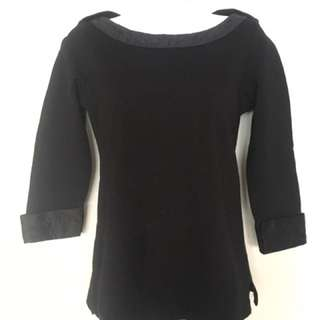 Authentic black Chanel Top XS Quilted