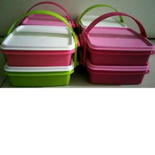 🆕Tupperware Small Goody Box with Cariolier (2) 790ml