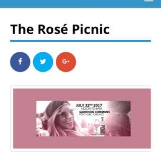 2 Tickets To Rosé Picnic!!!