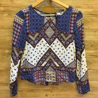 H&M Patterned Long Sleeved Top