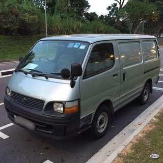 Rental Of Toyota Hiace Diesel Van, Manual