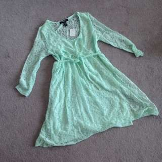 Adorable Mint Lace Dress