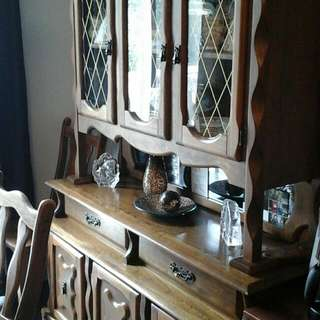 Dining Table And Cabinets