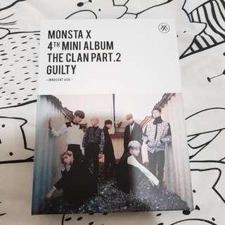 Monsta X 4th Mini Album The Clan Pt 2 Innocent Version