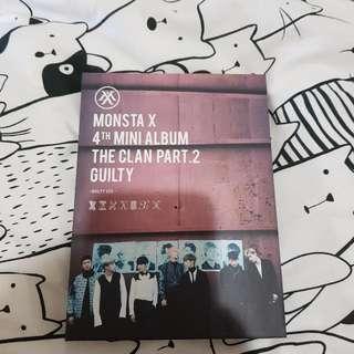Monsta X 4th Mini Album The Clan Pt 2 Guilty Version