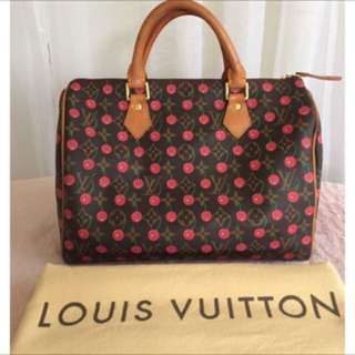 Louis Vuitton Cherry Speedy 30 Cerise Murakami