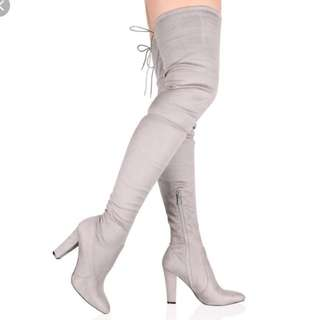 Thigh-High Stretch Boots