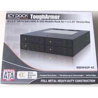 "ICY DOCK ToughArmor MB994SP-4S Full Metal 4 Bay 2.5"" SAS/SATA"