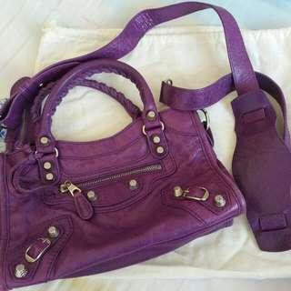 Balenciaga 巴黎世家 city mini 紫色 purple ultraviolet violet 手袋