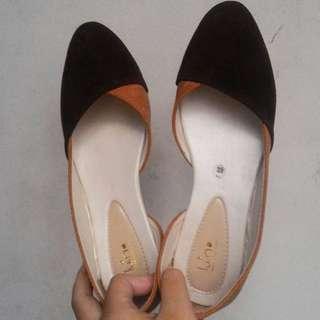 flat shoes coklat (NEW)