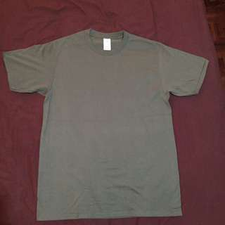 Olive Screen Cotton Shirt