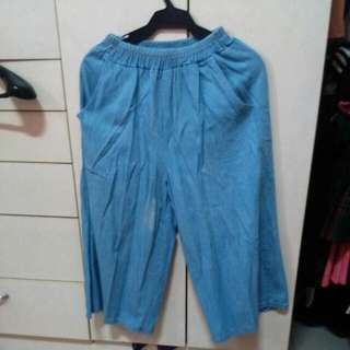 Maong Culottes W Stain