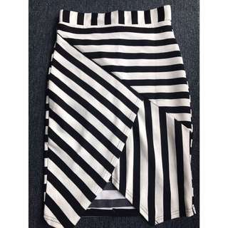 High Waisted Striped Skirt
