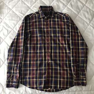 MASSIMO DUTTI Checkered Long Sleeves