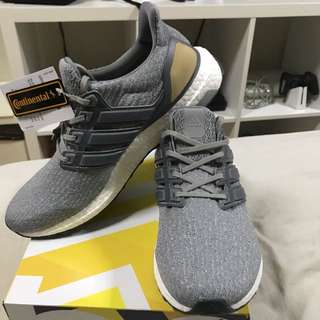 Adidas Ultra Boost 3.0 LTD Grey Leather Cage (UK8.5)