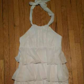 White Summer Dress Le Chateau Size Small worn once