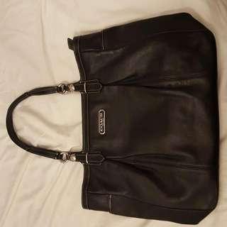 Coach Purse (Black Leather)