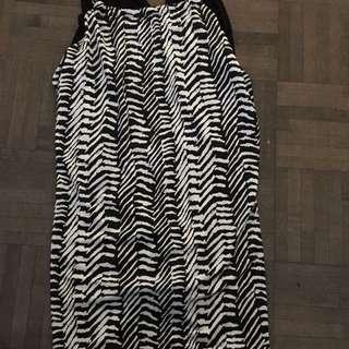 Zebra Print Halter Top