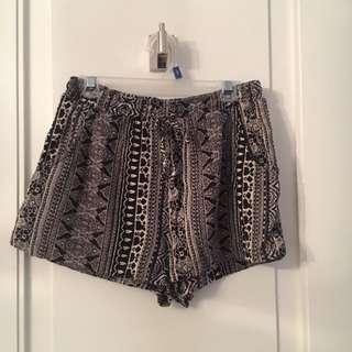 American Eagle Flowy Silk Shorts
