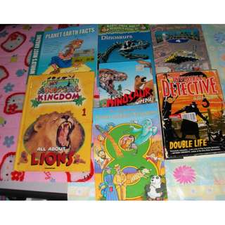 7 copies of children books - good fiction & non-fiction books for primary & intermediate students