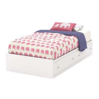 Dipan Laci / Tempat Tidur Laci Minimalis 100x200cm / Ranjang Laci Putih