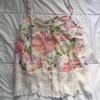 FLORAL BILLABONG TOP