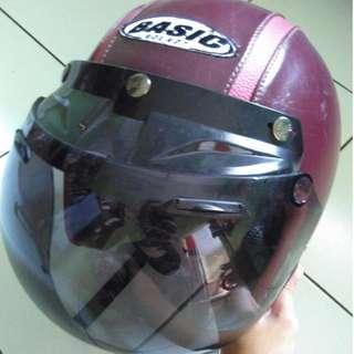 Helm Bogo Maroon Basic