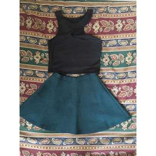 Cropped Top & Skirt