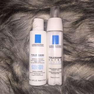 La Roche-Posay Soothing Fluid (full) & Cleanser (tester)