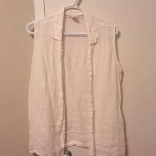 Banana Republic White Sleeveless