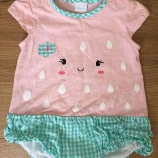 🎈麗嬰房 女寶寶可愛連身裙褲衣 6-12m
