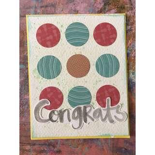 """Congrats"" - handmade card"