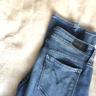 Faded Blue Skinny Jeans