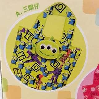 Pixar 三眼仔 環保袋 7-11 印花