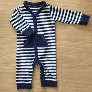 👶🏻Repriced! Preloved M&S Stripes Onesie👶🏻
