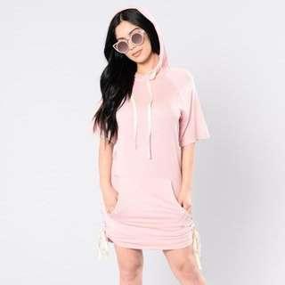 Hoodie Shirt Dress