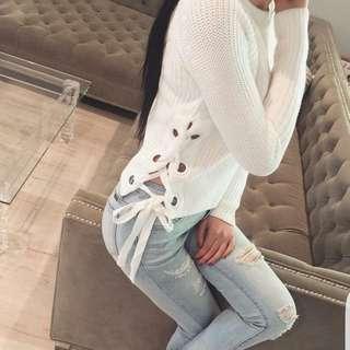 Whute Sweater